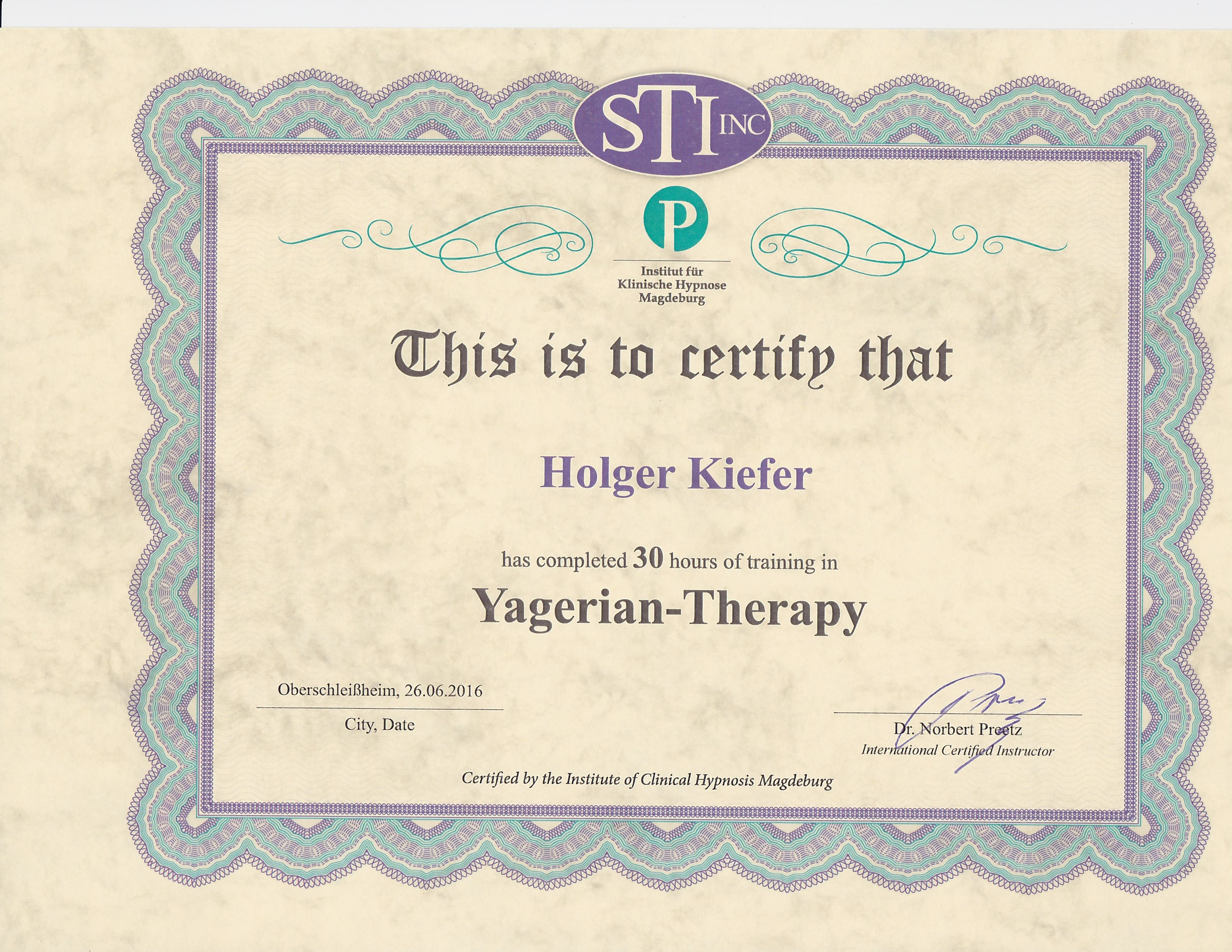 Yager Code - Yager Therapy - Auch Online - / Nürnberg / Fürth