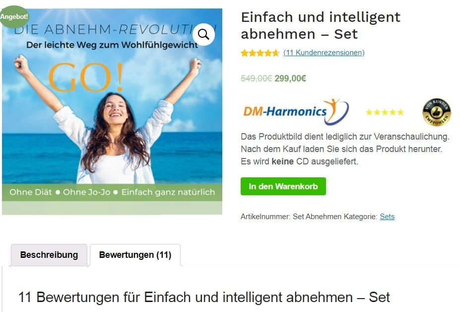 Bestellung Mental Training Idealfigur